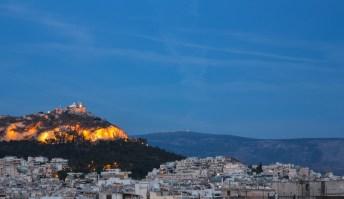 Vista Noturna Atenas