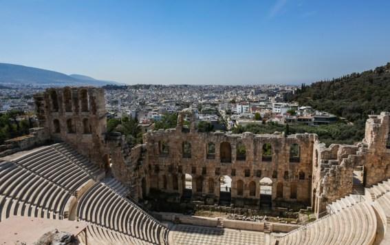 Teatro de Dionísio na Acrópole