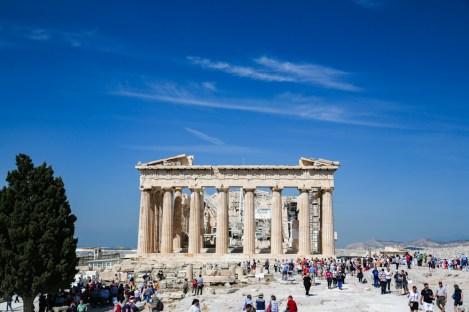 Vista do Parthenon em Acrópole