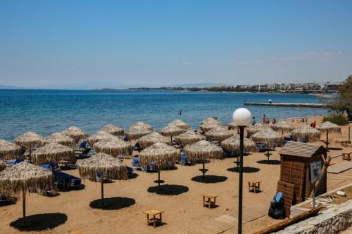 Praia em Atenas
