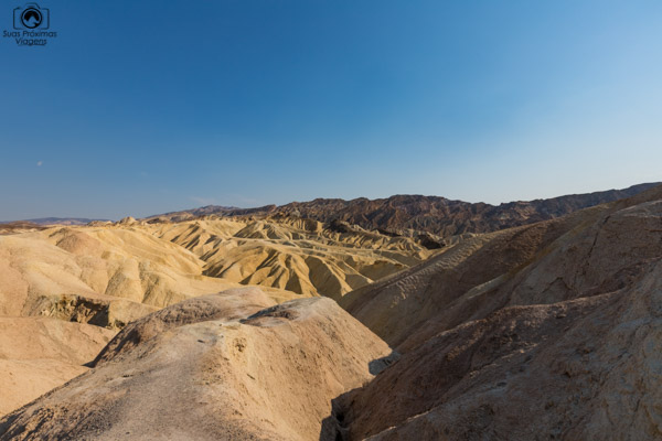 Zabriskie Point no Vale da Morte California