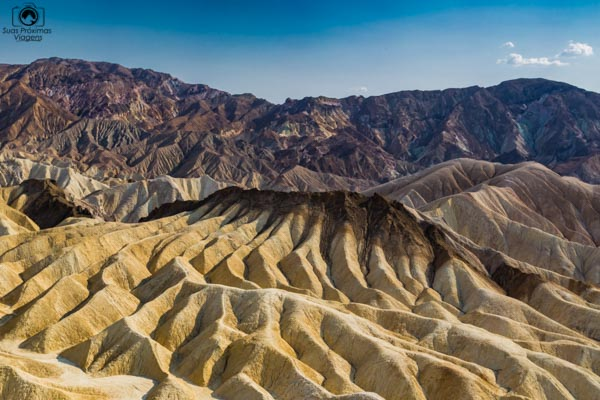 Zabriskie Point no Vale da Morte EUA