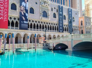Frente do Hotel Venetian em Las Vegas