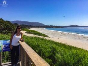 Praia de Carmel na Costa da Califórnia
