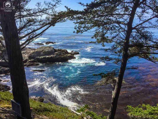 Paisagens na Big Sur na Costa da California