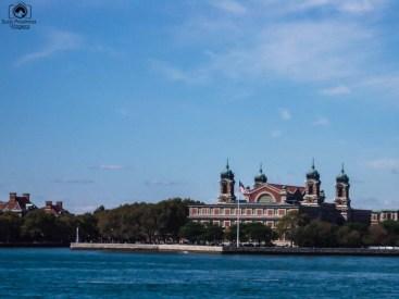 Vista da Ellis Island em Nova York