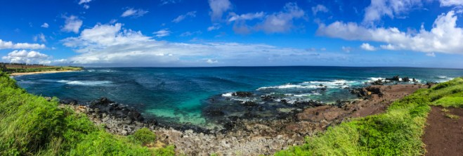 Praia Costa Oeste em Maui no Havaí