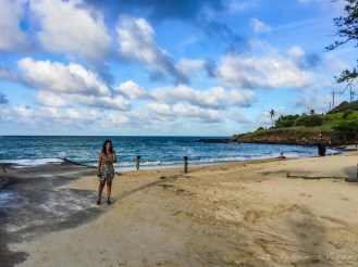 Vista Oposta da Praia Kailua em Oahu