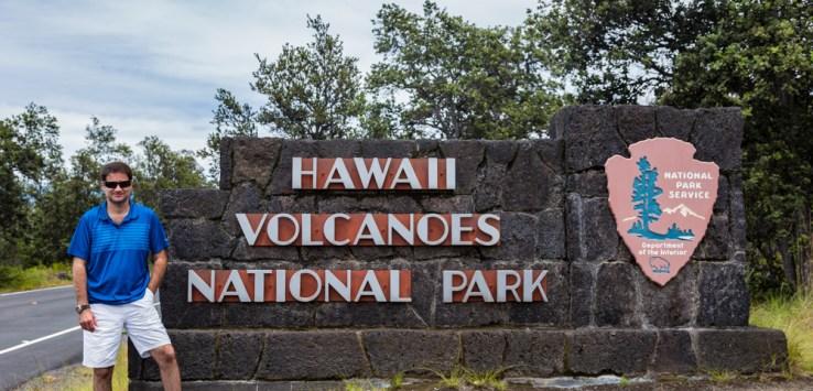 Entrada do Parque dos Vulcões no Havaí