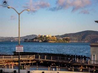 Alcatraz vista desde Fisherman's Wharf em o que fazer em São Francisco