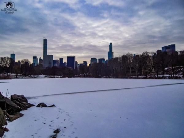 Vista do Central Park no Inverno em Nova York