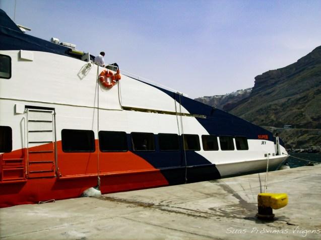 Ferry Boat para translado entre ilhas em Mykonos Grécia