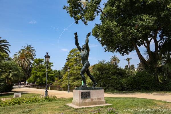 Estátua no Para Ciutadella em Barcelona