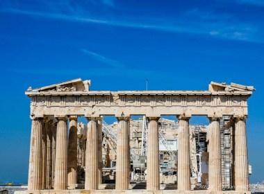 Parthenon em Acrópole na Grécia