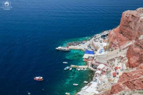 Vista do Porto Amoudi - Viagem para Santorini