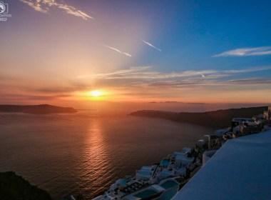 Lindo Pôr do Sol em Santorini