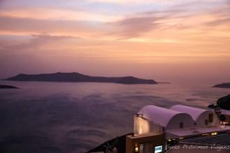 Pôr do Sol em Thira em Santorini