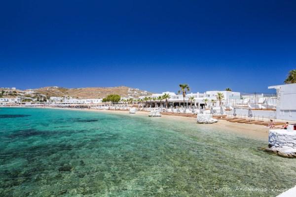 Praia de Ornos na Ilha de Mykonos Grecia Pontos Turisticos