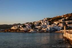 Golden Hour em Chora em Mykonos