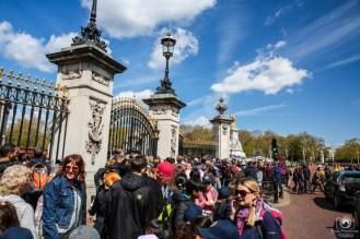 Multidão a frente do Portão do Palácio de Buckingham nas melhores dicas de Londres