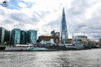 The Shard desde o Tâmisa em O Que Fazer em Londres