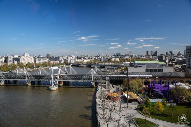 Vista desde a London Eye nas melhores dicas de Londres