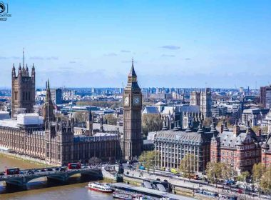Big Ben Visto da London Eye nas melhores dicas de Londres