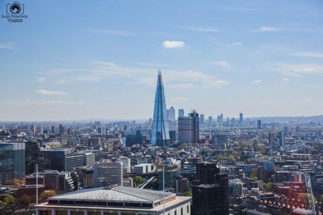 The Shard desde a London Eye em O Que Fazer em Londres
