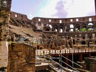 Paredes do Coliseu em o que fazer em Roma