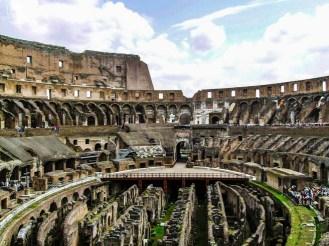 Calabouços do Coliseu em o que fazer em Roma