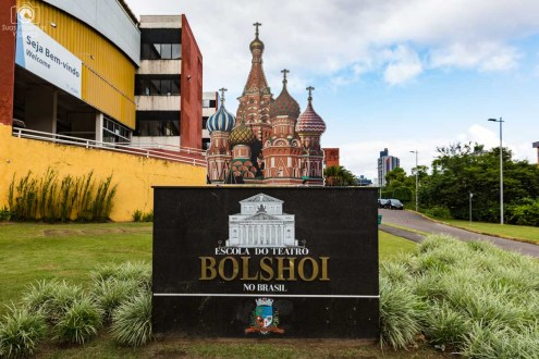Painel Externo da Escola Bolshoi em Joinville