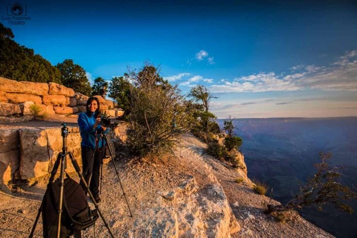 Amanhecer no Grand Canyon, um dos Parques Nacionais nos EUA