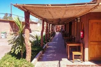 Varanda do Hostal Lickana em onde se hospedar em San Pedro de Atacama
