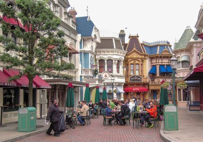 Main Street na Disneyland Paris