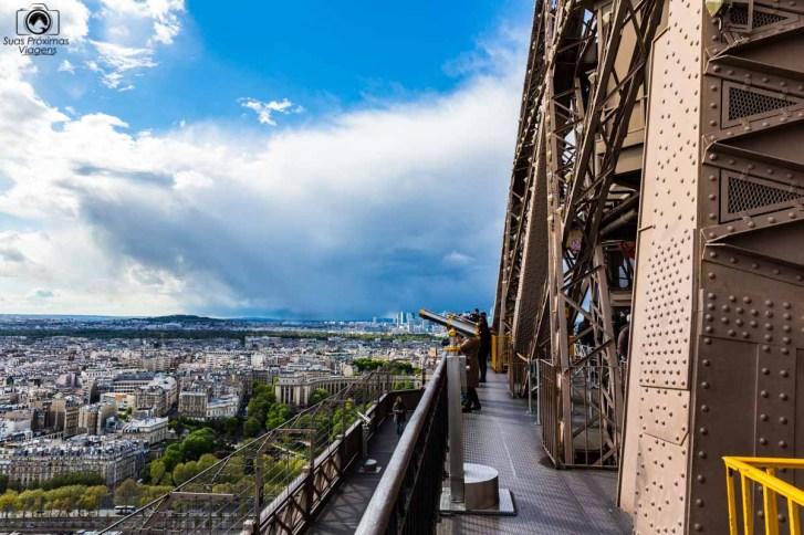 Vista do 1o Andar da Torre em o que fazer em Paris
