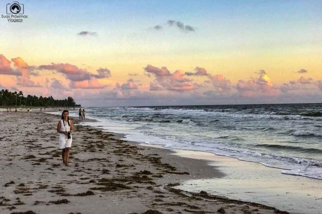 Parte Sul da Praia do Pier na Paradise Coast