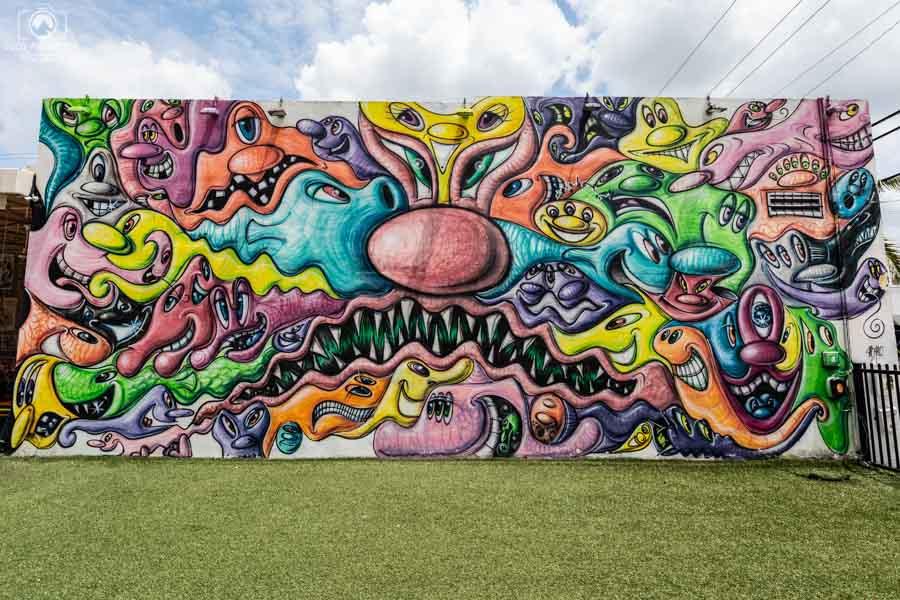 Painel no Wynwood Walls em Miami