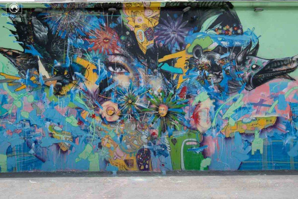 Painel no Wynwood Walls em Turismo em Miami