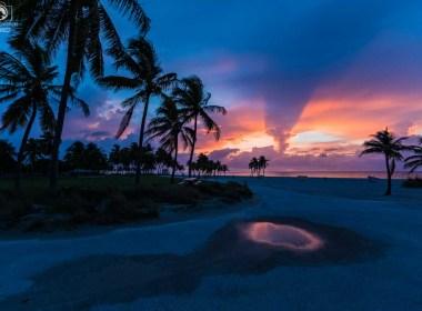 Amanhecer em Key Biscayne em onde se hospedar em Miami