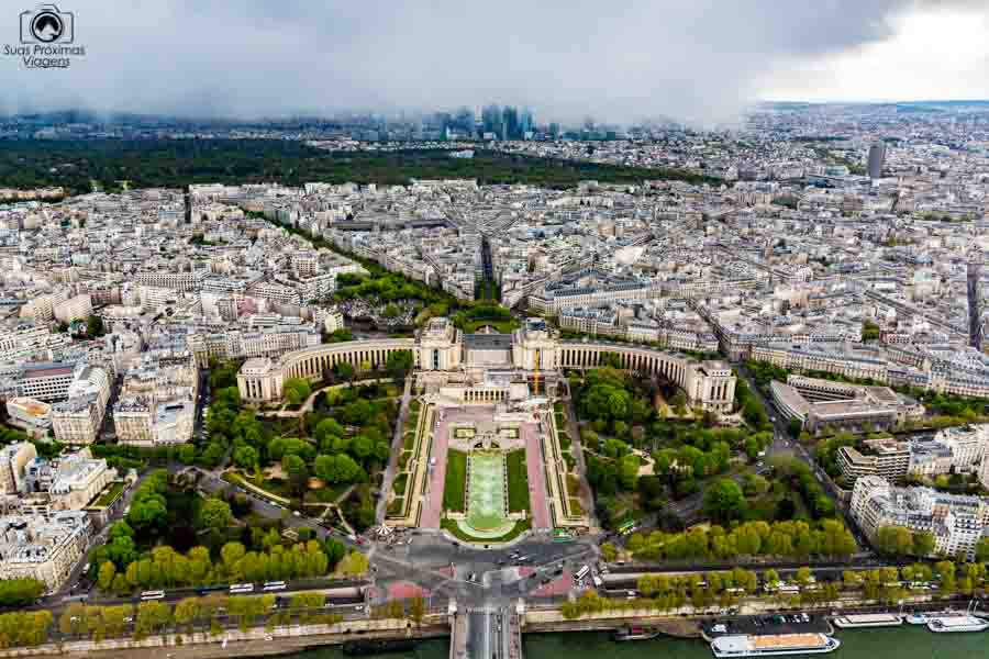 Vista do Trocadéro desde a Torre em o que fazer em Paris