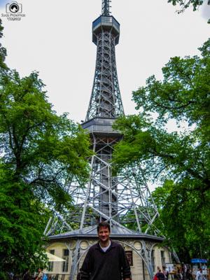 Torre Petrín na Cidade de Praga República Tcheca