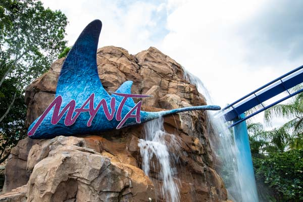 Montanha Russa Manta do SeaWorld nos Parques em Orlando