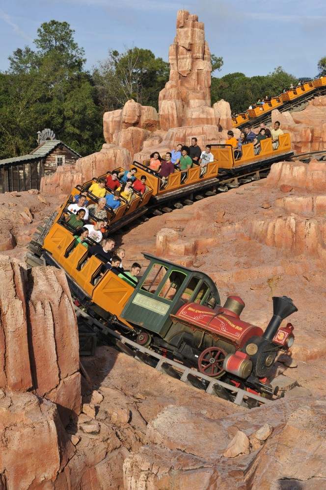 Big Thunder Mountain Railroad no Magic Kingdom ( imagem pertence a Disney)