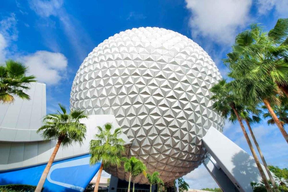 Espaçonave Terra - Símbolo Icônico do Epcot Center em Parques da Disney