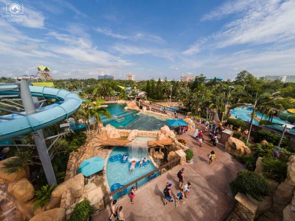 Vista do final do Dolphin Plunge no Aquatica Orlando