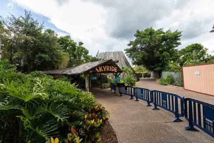 Acesso ao Skyride no Busch Gardens