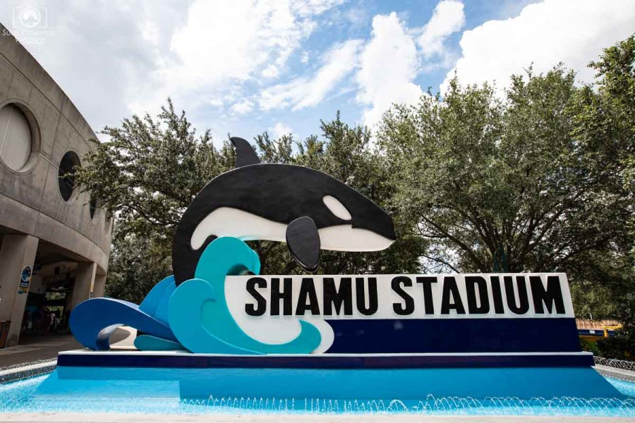 Entrada do Stadium da Shamu no Seaworld Orlando