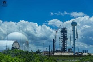 Uma das plataformas de lançamento dos foguetes no Kennedy Space Center