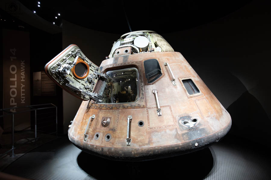 Cápsula do Projeto Apollo no Kennedy Space Center