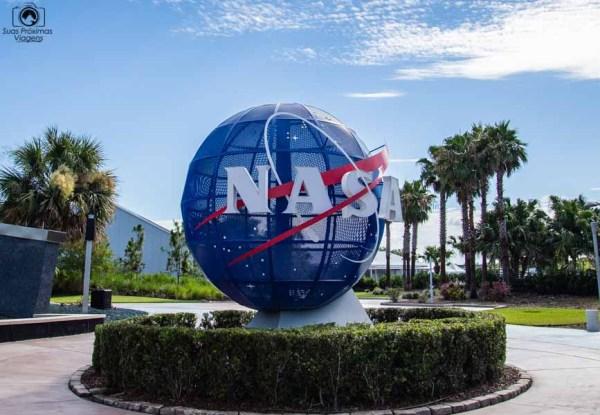 Tradicional Globo da Nasa da Entrada do Kennedy Space Center